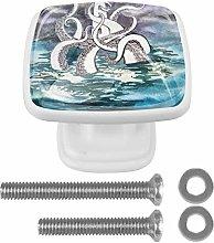 Kraken Attacked The Lighthouse 4PCS Drawer Knobs