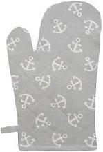 Krasilnikoff - Oven glove anchor in gray / white