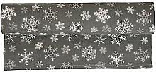 Krasilnikoff - Table runner Snowflakes in brown