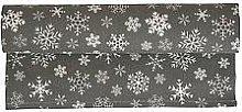 Krasilnikoff - Table runner Snowflakes in brown