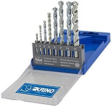 KRINO 3050205Bits for Wall, Set of 8, Steel,