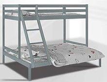Krolam Wooden Twin Sleeper Bunk Bed In Grey