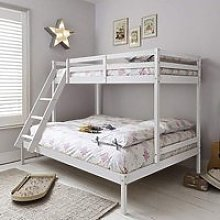 Krolam Wooden Twin Sleeper Bunk Bed In White