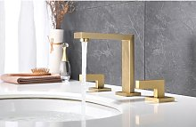 Kroos ® - Brushed gold deck mounted basin mixer