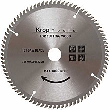 KROP Circular Saw Blade Cordless TCT 165mm x 80