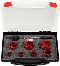 KS Tools 129.5575  Plumbing holesaw set, 9 pcs