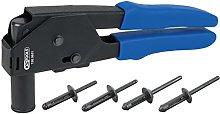 KS Tools 150.9650 Plastic rivet pliers set