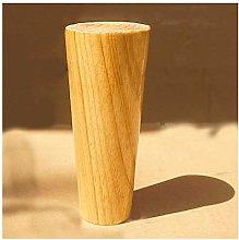 KSGH Round Solid Wood Furniture Legs, Mid-Century