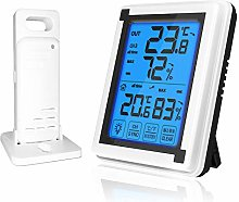 Kshzmoto Indoor Outdoor Thermometer Wireless