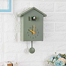 Ksnrang Wall clock simple and creative bird on the