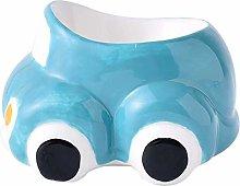 KSTORE Ceramic Egg Cup in the Shape Car Cartoon
