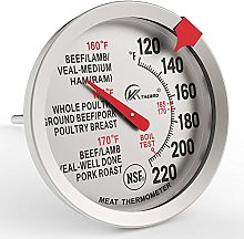 KT THERMO Meat Thermometer 2.5-Inch Dial Stainless