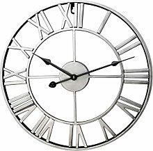 KTDT Wall Clock Vintage Metal Clock European