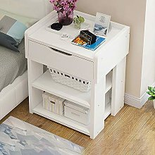 KTDZ Bedside Table, Modern Minimalist Wooden