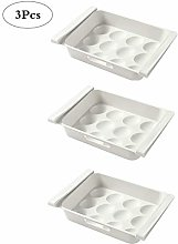 KuanDar clo 3 Pcs Refrigerator Egg Food Storage