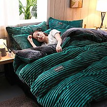 KuanDar clo Soft Corduroy Comforter Cover, Thick