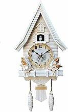 KUANDARMX Modern Cuckoo Wall Clock, Mini Tiny