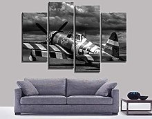 Kuaooeszz 4 Pieces Canvas Painting Wall Background
