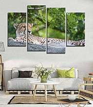 Kuaooeszz 4 Pieces Canvas Panel Art Wall Painting