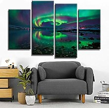 Kuaooeszz 4 Pieces Panel Canvas Wall Art Frame