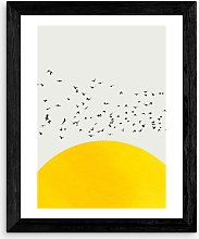 Kubistika - 'A Thousand Birds' Framed