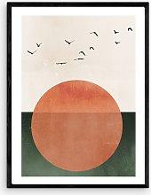 Kubistika - 'Rising' Framed Print, 83 x
