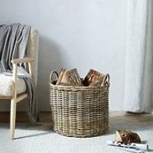 Kubu Log Basket, Natural, One Size