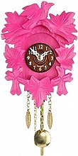 Kuckulino Black Forest Clock with cuckoo pink,