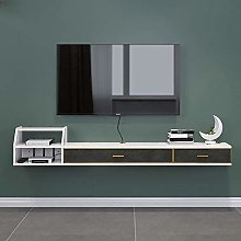 Kücheks Wall Mounted Tv Stand Shelf Rack Cabinet