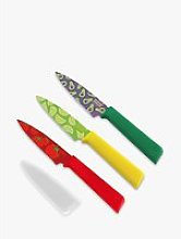 Kuhn Rikon Colori Food Pattern Kitchen Knives, Set