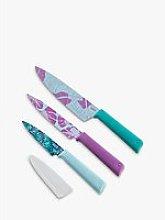 Kuhn Rikon Essentials Tropical Kitchen Knives, Set
