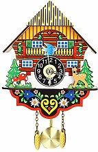 Kuingbhn Decorative Clock Vintage Home Bird Cuckoo