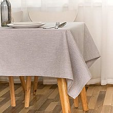 Kuingbhn Rectangular Tablecloth Stain Proof Cotton