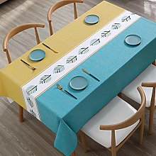 Kuingbhn Rectangular Tablecloth Stain Proof Simple