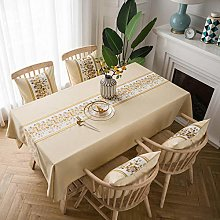 Kuingbhn Tablecloth for Rectangle Table Wipe Clean