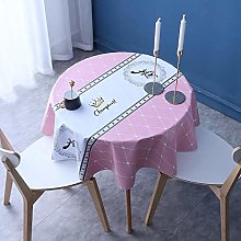 Kuingbhn Wipe Clean Oilcloth Table Cloth Household