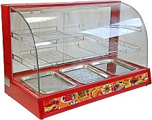 KuKoo 90cm Electric Food Warmer Cabinet, Red, 95cm