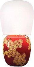 Kundalini Hive - ceramic table lamp, red