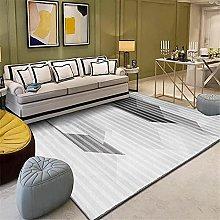 Kunsen Area Rug Small Gray white salon carpet