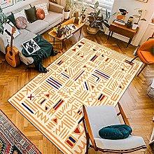 Kunsen Area Rug Yellow vintage style living room