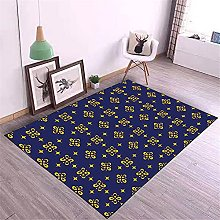 Kunsen Area Rugs For Living Room Printed carpet