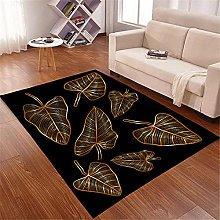 Kunsen Black Theme Beautiful Salon Carpet Reduces