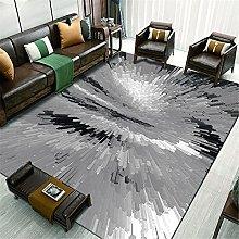 Kunsen Cheap Area Rug Gray modern abstract