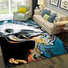 Kunsen Cheap Carpet Abstract black modern carpet