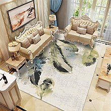 Kunsen Cheap Extra Large Rugs Abstract ink