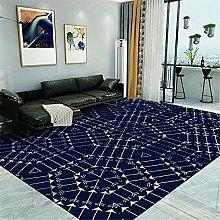 Kunsen Cheap Extra Large Rugs Blue grid modern