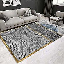 Kunsen Fireplace Rug Gray abstract modern