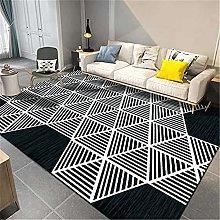 Kunsen Fireplace Rug Luxury abstract geometric