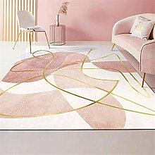 Kunsen Living Room Rug Pink luxury interior carpet