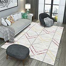Kunsen Long Floor Carpet Gray plaid salon carpet